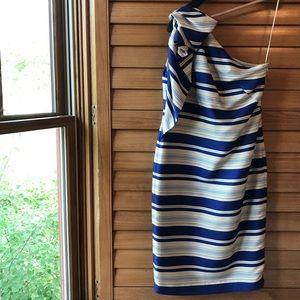 NWT!! Satiny Striped Dress by Banana Republic